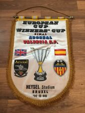 Pennant: 1980 ECWC Final Arsenal V Valencia Number 3