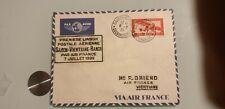 INDOCHINE LETTRE PREMIERE LIAISION AERIENNE SAIGON VIENTIANE SAIGON 1939