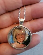 BRITNEY SPEARS UNISEX PENDANT SILVER NECKLACE ADULT / KID WITH ORGANZA BAG NEW