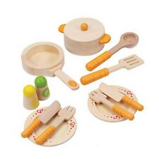 Gourmet Kitchen Starter Set Pretend Play Food Wooden Toys Traditional