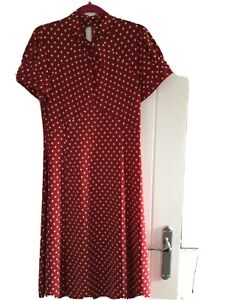 Next Ladies Polka Dot Dress Size 16