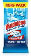 Windolene Glass Cleaner 30 Sheets Diamond Shine Vinegar x 2 Big Pack 60 Sheets