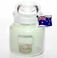 YANKEE CANDLE SMALL * Wildflower Blooms * GLASS JAR 3.7OZ SCENTED CANDLE