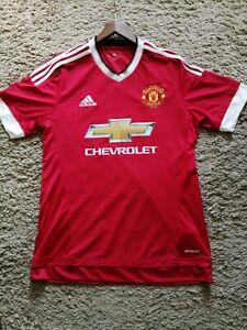 Retro Man Utd Adidas Football Shirt Size Medium.