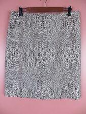 SK10874- ANN TAYLOR LOFT Woman Cotton Silk Pencil Skirt Browns Geo Sz 10 MINT
