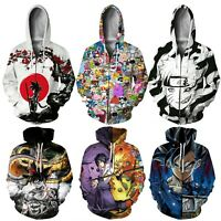 Womens Mens Dragon Ball Z 3D Anime Print Pullover Hoodies Jumper Jacket Coat Top