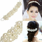 New Wedding Bridal Bridesmaid Flower Girl Pearl Crown Headband Tiara Hair Band