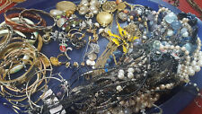 Vintage Estate Junk Drawer Costume Jewelry Lot Over 25 Pieces