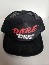 Vintage Dare Snapback Hat Black Drugs Trucker Cap New Education