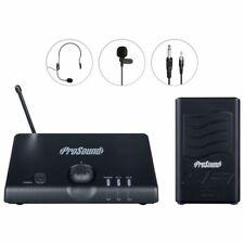 Prosound N41QR AURICULAR VHF y Clip de Corbata Micrófono Inalámbrico Kit Inc Garantía