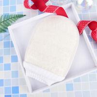 natural loofah luffa bath shower sponge body scrubber exfoliator washing glov~QA