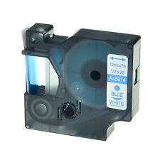 "1PK 45014 Blue on White Label Tape for DYMO D1 Labelmanager 150 PNP 12mm 1/2"""