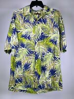 TORI RICHARD Hawaiian Floral Button Short Sleeve Shirt Mens L