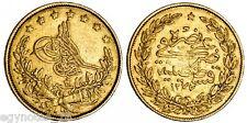 TURKEY - OTTOMAN , GOLD 100 KURUSH SULTAN ABDUL AZIZ 1277/3 ( FU ) , SCARCE