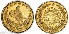 TURKEY - OTTOMAN , GOLD 100 KURUSH SULTAN ABDUL AZIZ 1277/3 ( AP.JA ) , SCARCE