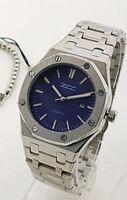 Orologio Polso ZCC 1067 Uomo Quarzo Data Elegante Silver Quad Blu lac