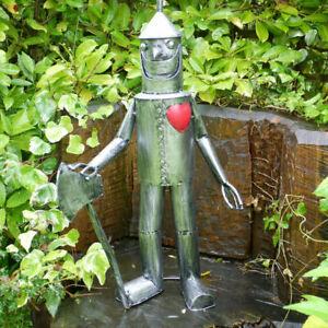 Metal Tin Man Figure Vintage Garden Sculpture Lawn Statue Art Ornament 79cm