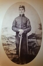 ANTIQUE CIVIL WAR POSSIBLE CAMP DOUGLAS CONFEDERATE PRISON GUARD BAYONET PHOTO