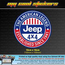 Jeep American Legend Vinyl Sticker Decal, 4X4, window, Wrangler Grand Cherokee