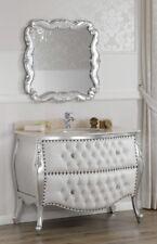 Como e specchio Ramirez stile Barocco Moderno arredo bagno bombato foglia argent