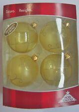 4 Piezas Esferas de Navidadpara árbol Dorado Decorado Mano en Resiglas Galvas