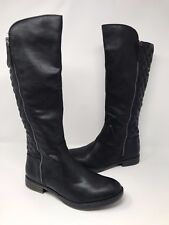 New! Women's Bongo Bailey Knee High Riding Boot - WIDE WIDTH Black 20399 M49