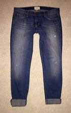CURRENT ELLIOTT THE SKINNY ROLLED JEANS 30 WAGER DISTRESSED WASH EUC!