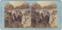 Pont Napoleone A Luz-Saint-Sauveur Foto Lamy Stereo Vintage Albumina Ca 1870