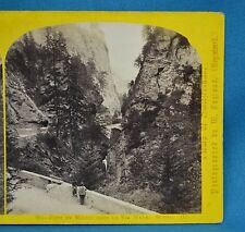 1860s Suisse Stereoview 201 Pont Du Milieu Via Mala Alpine Club William England