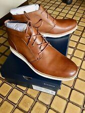 NEW Cole Haan Original Grand Leather Chukka Ankle Boots 9.5 Woodbury/Ivory