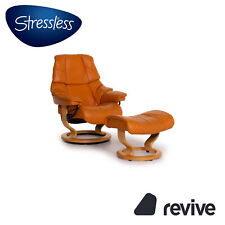 Stressless Reno Leather Armchair Orange Relaxfunktion Incl. Stool #15411