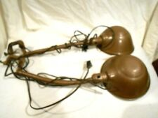 2-Vintage Matching Rodale Bench Clamp Industrial Utility Lights-Flex Shaft