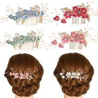 Bridesmaid Hair Jewelry Bridal Clips Hair Combs Flower Hair Pin Leaves Tiara