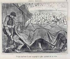 Honore Daumier France 1808-1879 Lithograph Croquis Parisiens No 10 spirituel