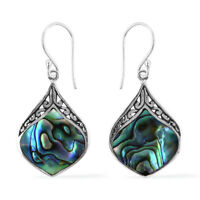 Dangle Drop Earrings Abalone Shell 925 Sterling Silver Jewelry Women