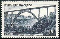 "FRANCE STAMP TIMBRE YVERT N° 928 "" VIADUC DE GARABIT 15F "" NEUF xx TTB"