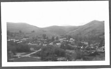 VINTAGE 1963 VIRGINIA CITY MONTANA BIRDS-EYE VIEW FROM BOOT HILL OLD PHOTO