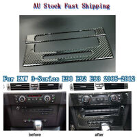 Carbon Fibre Car Central CD Stereo Panel Decorative Trim For BMW E90/92/93 05-12