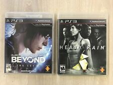 Beyond Two Souls & Heavy Rain (PlayStation 3) 2 GAMES LOT!!