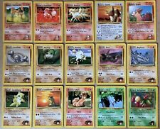Pokemon Gym Heroes set common cards Pikachu Charmander Vulpix ect - you Choose