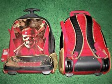 Disney Store PIRATES OF THE CARIBBEAN Rolling Luggage Back Pack Travel Suitcase
