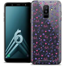 """Coque Crystal Gel Pour Samsung Galaxy A6 PLUS 2018 (6"""") Souple Love Bicycle"""