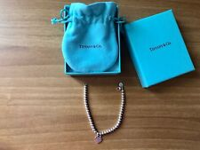 Bracciale Please Return To Tiffany&Co, Con Cuore Argento E Blu Tiffany