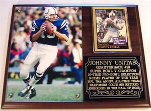 Johnny Unitas #19 Baltimore Colt Legend NFL Hall of Fame Photo Plaque Super Bowl