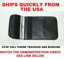 Slim Size Pouch GPS,RFID,Signal Blocker,Prevent / Stop Tracking and Spying