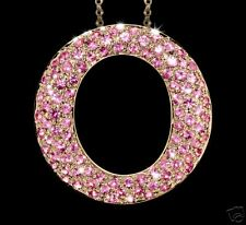 2.13ct Pink Sapphire Pendant / Necklace 14k Gold
