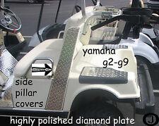 Yamaha G2/G9 Golf Cart Highly Polished Diamond Plate SIDE PILLAR COVERS
