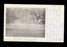 1908 UDB Photo Postcard Tents at Warburton's Woods Lake Francis Elysian MN  B147
