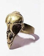 Ring Raben Schädel Raven Golden Skull Steampunk Skeleton Gothic Dead Crow Rave