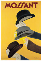 VINTAGE FRENCH HAT ART PRINT - MOSSANT by Leonetto Cappiello Poster 27.5x39.5